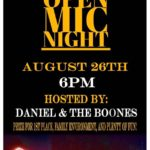 open mic poster Aug 26